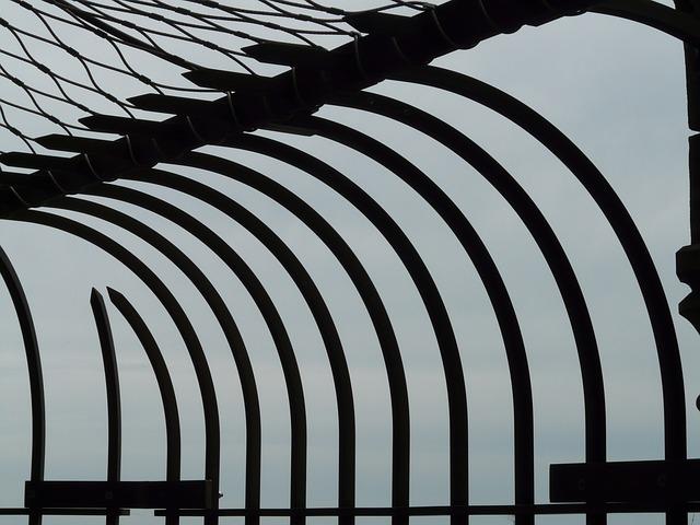 Foto eines Gefängniszauns
