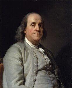Portrait von Benjamin Franklin