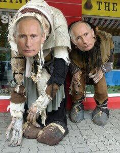 Trolle mit Putin-Gesicht
