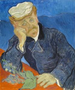 Deprimierter Mann auf auf eine Hand gebeugt