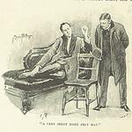 Zeichnung von Sherlock Holmes und Watson