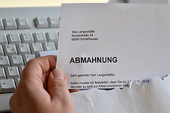Abmahnung photo