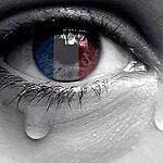 weinendes Auge mit Tricolore