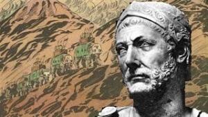 Hannibal vor dem Hintergrund der Alpen