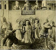 Nonnen mit Heiligenschein verjagen die Ungläubigen
